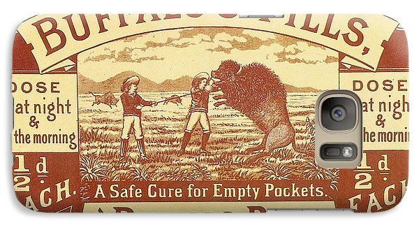 Galaxy Case featuring the photograph Buffalo's Pills Vintage Ad by Gianfranco Weiss