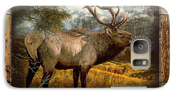 Galaxy Case featuring the painting Bugling Elk by JQ Licensing