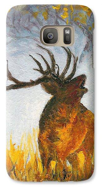 Galaxy Case featuring the painting Bugling Elk by Karen Mattson
