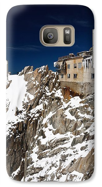 Galaxy Case featuring the photograph building in Aiguille du Midi - Mont Blanc by Antonio Scarpi