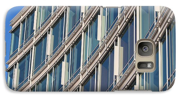 Galaxy Case featuring the photograph Building With Windows by Cynthia Snyder