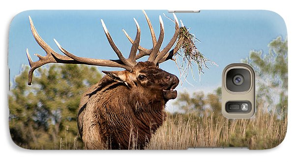 Galaxy Case featuring the photograph Bull Elk Call by Dawn Romine