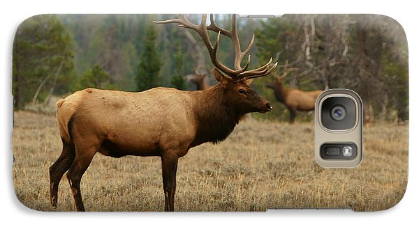 Galaxy Case featuring the photograph Bull Elk In Grand Teton Np by Jeremy Farnsworth