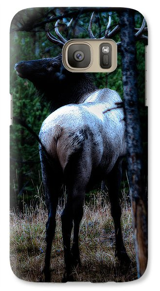 Galaxy Case featuring the photograph Bull Elk In Moonlight  by Lars Lentz