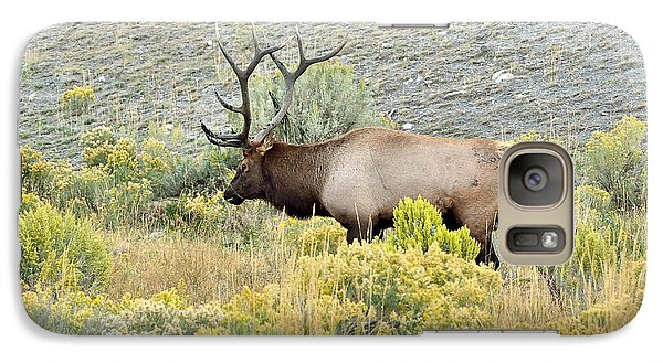 Galaxy Case featuring the photograph Bull Elk In Rut by Yeates Photography