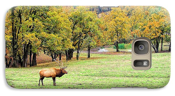 Galaxy Case featuring the photograph Bull Elk by Wendy McKennon