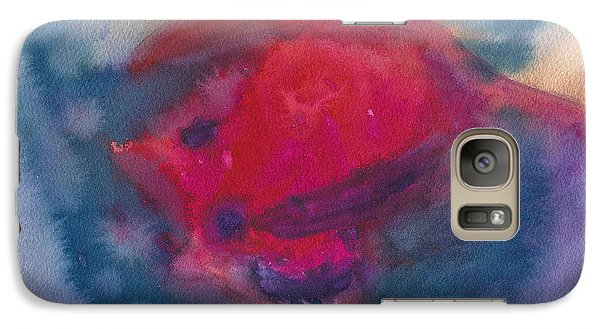 Galaxy Case featuring the painting Bull Fight Abstract by Frank Bright