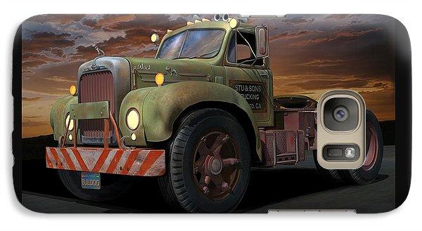 Galaxy Case featuring the digital art Bulldog Sunset by Stuart Swartz