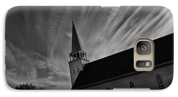 Galaxy Case featuring the photograph Bullet Riddled Church by Ryan Crouse