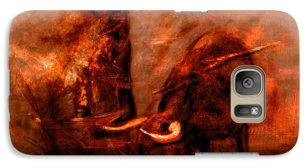 Galaxy Case featuring the painting Bullfight by Kim Gauge