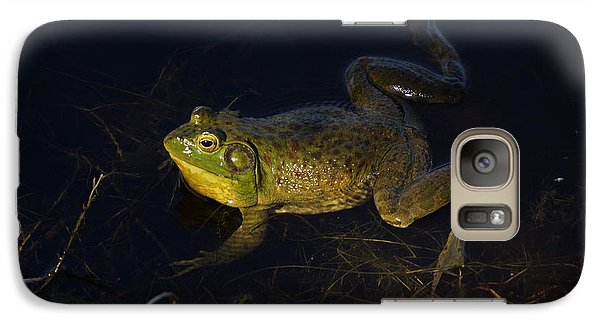 Galaxy Case featuring the photograph Bullfrog by Janis Knight