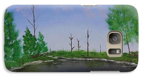 Galaxy Case featuring the painting Bullfrog Reservoir by Jennifer Muller