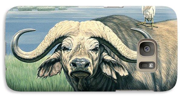 Egret Galaxy S7 Case - 'bullrider'   by Paul Krapf