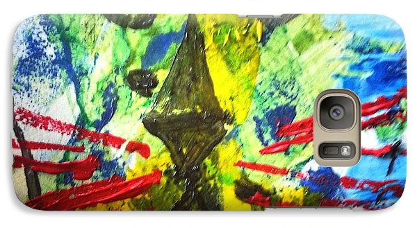 Galaxy Case featuring the painting Bully Boy by Leslie Byrne