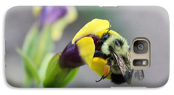 Galaxy Case featuring the photograph Bumble Bee Making A Wish by Penny Meyers