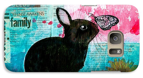 Galaxy Case featuring the drawing Bun And Butterfly by Penny Collins