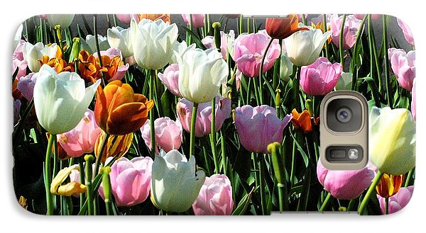 Galaxy Case featuring the photograph Bunch-o-tulips by Mark McReynolds