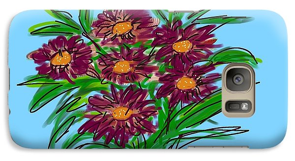 Galaxy Case featuring the digital art Bunch Of Daisies by Christine Fournier