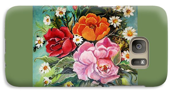 Galaxy Case featuring the painting Bunch Of Flowers by Yolanda Rodriguez