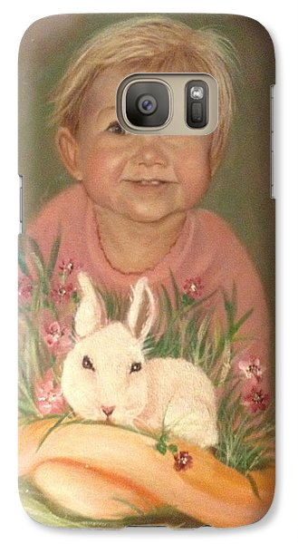Galaxy Case featuring the painting Bunny Rabbit by Sharon Schultz