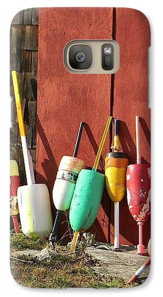 Galaxy Case featuring the photograph Buoys by Jean Goodwin Brooks