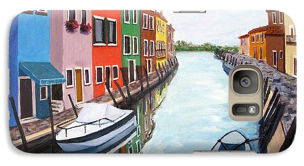 Galaxy Case featuring the painting Burano by Cheryl Del Toro