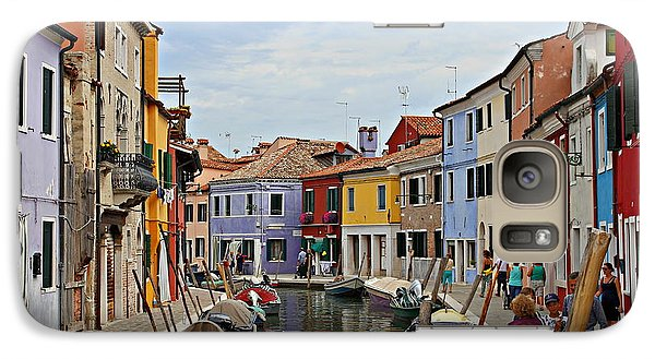 Galaxy Case featuring the photograph Burano Island by Cendrine Marrouat