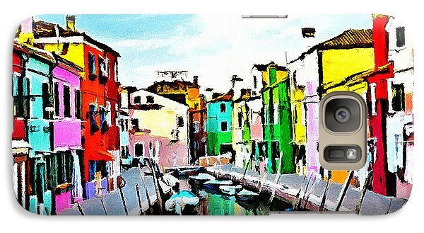 Galaxy Case featuring the painting Burano - Venice - Italy by Ze  Di
