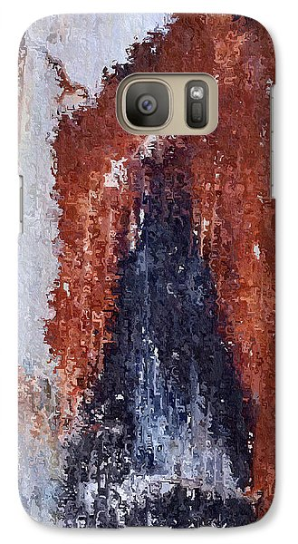 Galaxy Case featuring the digital art Burgundy And Black by Heidi Smith