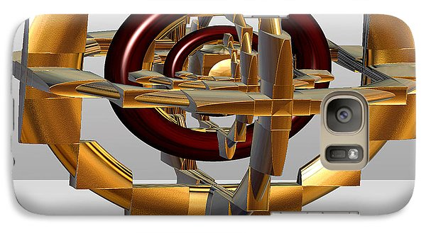 Galaxy Case featuring the digital art Burgundy And Gold by Melissa Messick