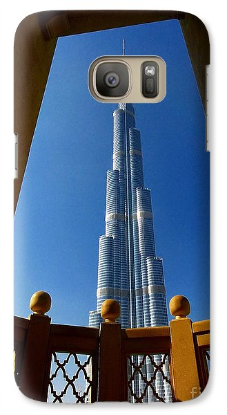 Galaxy Case featuring the photograph Burj Khalifa by Henry Kowalski