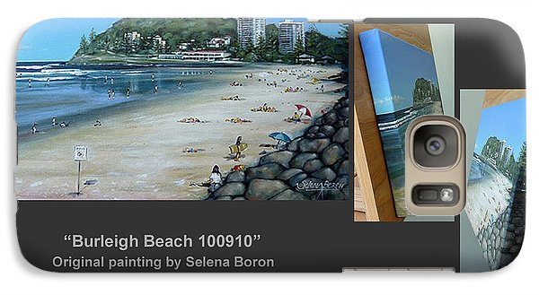 Galaxy Case featuring the painting Burleigh Beach 100910 Comp by Selena Boron