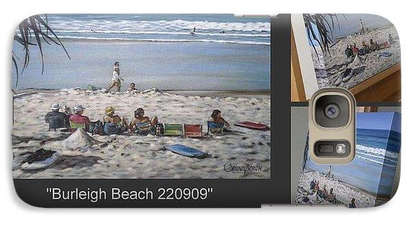 Galaxy Case featuring the painting Burleigh Beach 220909 by Selena Boron