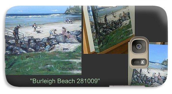 Galaxy Case featuring the painting Burleigh Beach 281009 by Selena Boron