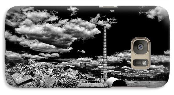 Galaxy Case featuring the photograph Burlington Klopman Remains by Alan Raasch