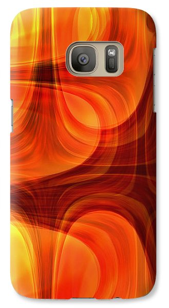 Galaxy Case featuring the photograph Burning Cross by Martina  Rathgens