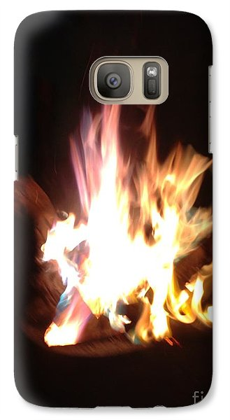 Galaxy Case featuring the photograph Burning For You by Fania Simon
