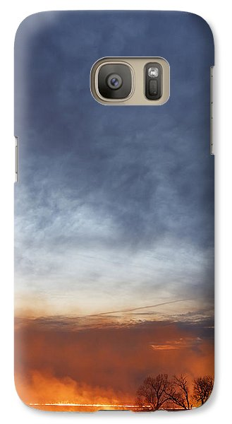 Galaxy Case featuring the photograph Burning by Scott Bean