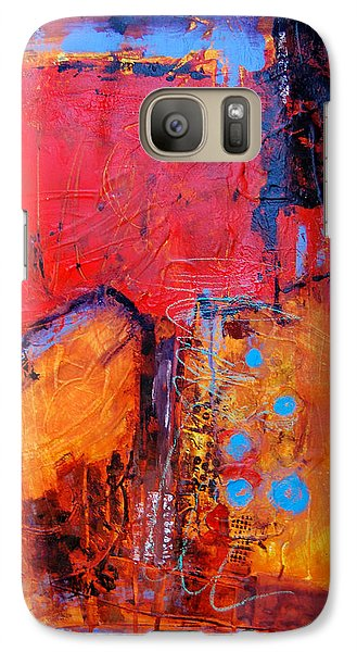 Galaxy Case featuring the painting Burning Tree by Ron Stephens
