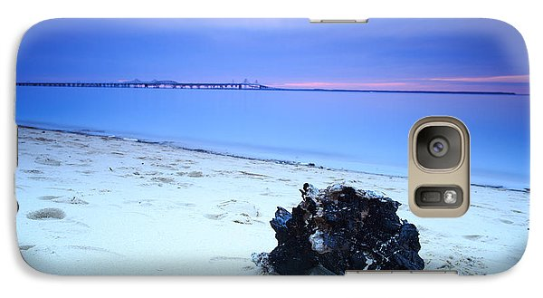 Galaxy Case featuring the photograph Burnt Driftwood Sunset by Jennifer Casey