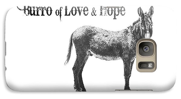 Galaxy Case featuring the drawing Burro Of Love And Hope by Marianne NANA Betts