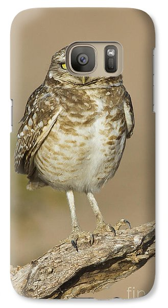 Galaxy Case featuring the photograph Burrowing Owl by Bryan Keil