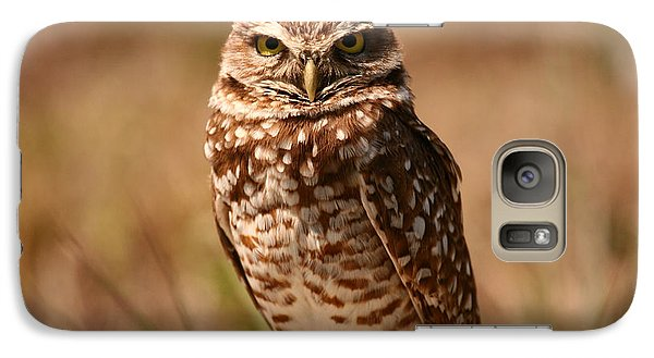 Galaxy Case featuring the photograph Burrowing Owl Impressions by John F Tsumas