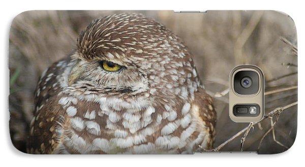 Galaxy Case featuring the photograph Burrowing Owl by Oksana Semenchenko