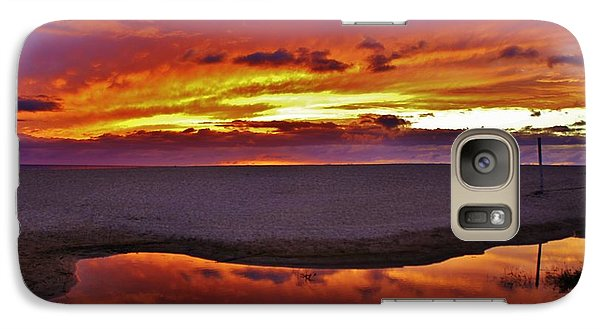 Galaxy Case featuring the photograph Burst Of Sunset Improves Overcast Day by Craig Wood