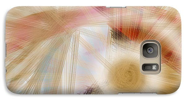 Galaxy Case featuring the digital art Bursting Brushes by Constance Krejci