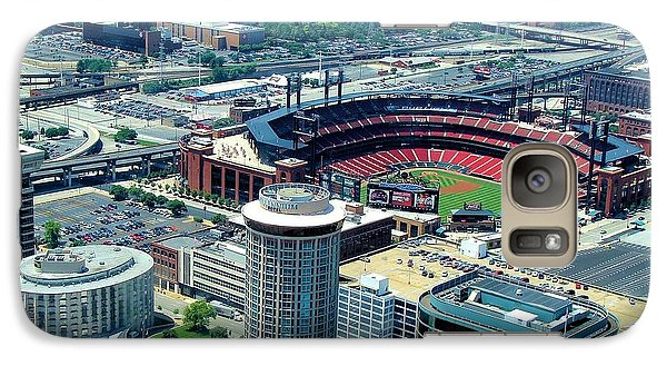 Galaxy Case featuring the photograph Busch Stadium From The Top Of The Arch by Janette Boyd