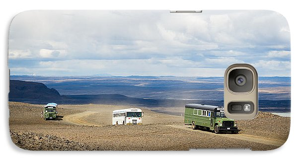 Galaxy Case featuring the photograph Buses Of Landmannalaugar by Peta Thames