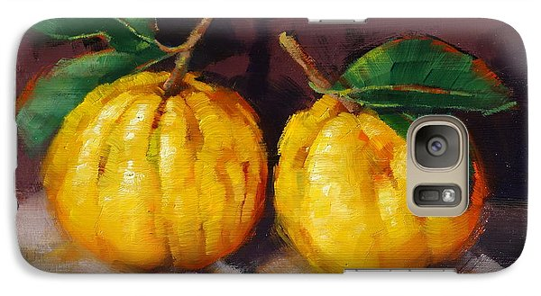 Galaxy Case featuring the painting Bush Lemons by Margaret Stockdale