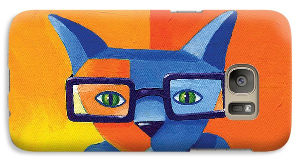Cat Galaxy S7 Case - Business Cat by Mike Lawrence